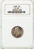 Proof Liberty Nickels: , 1909 5C PR66 NGC. NGC Census: (262/88). PCGS Population (202/34).Mintage: 4,763. Numismedia Wsl. Price for problem free NG...