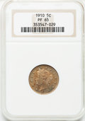 Proof Liberty Nickels: , 1910 5C PR65 NGC. NGC Census: (186/175). PCGS Population (138/119).Mintage: 2,405. Numismedia Wsl. Price for problem free ...