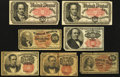 Fractional Currency:Fifth Issue, Fourth and Fifth Issue Fractional Notes Good or Better.. ...(Total: 7 notes)