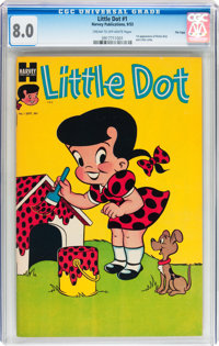 Little Dot #1 File Copy (Harvey, 1953) CGC VF 8.0 Cream to off-white pages