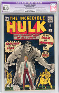 Silver Age (1956-1969):Superhero, The Incredible Hulk #1 (Marvel, 1962) CGC Apparent VF 8.0 Extensive(P) Off-white to white pages....