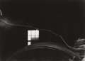 Photographs:20th Century, MINOR WHITE (American, 1908-1976). Wire, Window, and Crack,Boston, 1969. Early gelatin silver. 8 x 11 inches (20.3 x 27...