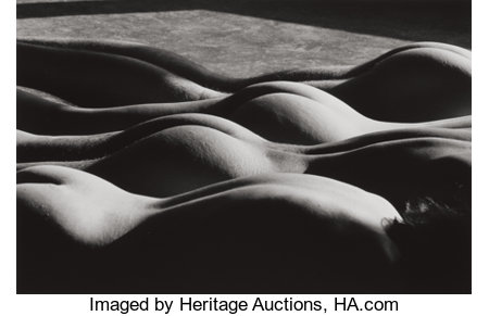 LUCIEN CLERGUE (French, b. 1934) Nudes, 1985 Gelatin silver, printed by K Vogrvue and L. Clergue, 1990 9-1/2 x 14-1/4...