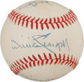 Baseball Collectibles:Balls, Mickey Mantle, Willie Stargell and Willie McCovey Multi Signed Baseball....