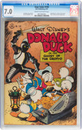 Golden Age (1938-1955):Cartoon Character, Four Color #159 Donald Duck (Dell, 1947) CGC FN/VF 7.0 Cream tooff-white pages....