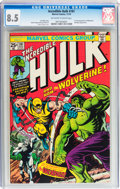 Bronze Age (1970-1979):Superhero, The Incredible Hulk #181 (Marvel, 1974) CGC VF+ 8.5 Off-white towhite pages....