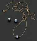 Estate Jewelry:Pearls, Gold & Cultured Pearl Necklace & Earrings. ...