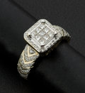 Estate Jewelry:Rings, Lady's Ring With Invisible Set Princess Cut Diamonds. ...