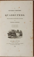 Books:Natural History Books & Prints, Thomas Bewick. A General History of Quadrupeds. Bewick, et al., 1824. Eighth edition. Contemporary calf with lig...