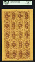 Fractional Currency:First Issue, Fr. 1230 5¢ First Issue Uncut Sheet of Twenty PCGS Apparent ChoiceAbout New 58.. ...