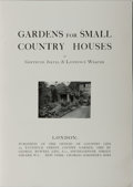 Books:Non-fiction, Gertrude Jekyll and Lawrence Weaver. Gardens for Small Country Houses. Country Life, 1913. Second edition. Publisher...