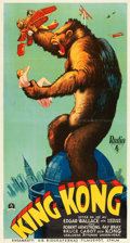 "Movie Posters:Horror, King Kong (RKO, 1933). Swedish Oversized (25"" X 47"").. ..."