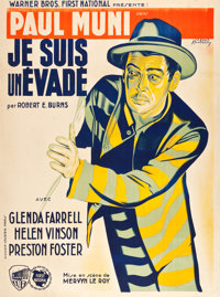 "I Am a Fugitive from a Chain Gang (Warner Brothers, 1932). French Grande (47"" X 63"")"