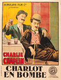 "Movie Posters:Comedy, A Night Out (Himalayan Film Paris, Late 1910s). French Grande (47""X 63""). French Title: Charlot en Bombe.. ..."