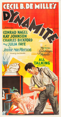 "Dynamite (MGM, 1929). Three Sheet (40.5"" X 80""). Drama"