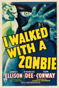 "Movie Posters:Horror, I Walked with a Zombie (RKO, 1943). One Sheet (27"" X 41"").. ..."