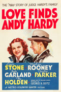 "Movie Posters:Comedy, Love Finds Andy Hardy (MGM, 1938). One Sheet (27"" X 41"") Style D....."