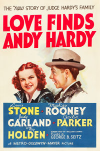 "Love Finds Andy Hardy (MGM, 1938). One Sheet (27"" X 41"") Style D"
