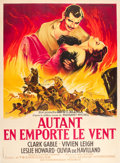 "Movie Posters:Academy Award Winners, Gone with the Wind (MGM, R-1954). French Grande (47"" X 63"").. ..."