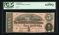 Confederate Notes:1864 Issues, T69 $5 1864 PF-11 Cr. 565.. ...