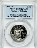Modern Bullion Coins, 2007-W $50 Half-Ounce Platinum Statue of Liberty PR70 Deep CameoPCGS. PCGS Population (428). NGC Census: (818). Numismedi...