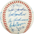 Baseball Collectibles:Balls, 1969 New York Mets Team Signed Baseball. ...