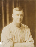 Baseball Collectibles:Photos, Early 1910's Christy Mathewson Original Large Photograph Inscribedby His Mother, PSA/DNA Type I....
