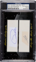 "Autographs:Others, 2012 ""Why the Hall Not?"" Autograph Card with Joe Jackson & PeteRose Signed Cut Signatures...."
