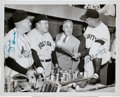 Autographs:Photos, 1954 Rogers Hornsby & Bill Terry Signed News Photograph....