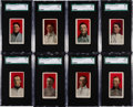 Baseball Cards:Lots, 1910 E103 Williams Caramel SGC-Graded Collection (8 Different). ...