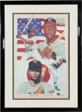 Autographs:Others, 1990's Hank Aaron & Sadaharu Oh Signed Limited EditionPrint....