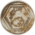 Explorers:Space Exploration, Gemini 6A Flown Silver-Colored Fliteline Medallion. ...