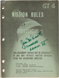Explorers:Space Exploration, Gemini 4 Training-Used GT-4 Mission Rules Revision 2 Manual Originally from the Personal Collection of Mission Com...