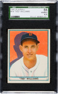 Baseball Cards:Singles (1940-1949), 1941 Play Ball Ted Williams #14 SGC 55 VG/EX+ 4.5....