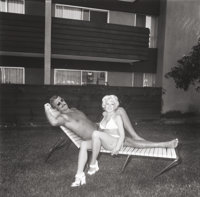 DIANE ARBUS (American, 1923-1971) Southbay Singles: Couple on a Chaise Lounge, 1970 Gelatin silver