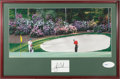 Golf Collectibles:Autographs, Tiger Woods Signed UDA Photograph Display....
