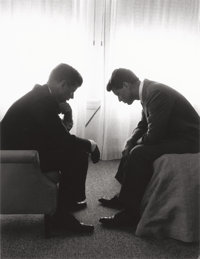 HENRY G. (HANK) WALKER (American) John F. Kennedy and Robert F. Kennedy at Democratic Convention, Hotel Baltimo