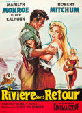 "Movie Posters:Adventure, River of No Return (20th Century Fox, R-1961). French Grande (47"" X63"").. ..."