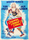 "Movie Posters:Comedy, Some Like It Hot (United Artists, 1959). French Grande (47"" X 63"")Style A.. ..."