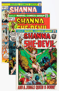 Bronze Age (1970-1979):Miscellaneous, Shanna the She-Devil #1-5 Group - Savannah pedigree (Marvel,1972-73) Condition: Average NM-.... (Total: 5 Comic Books)