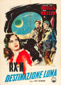 "Movie Posters:Science Fiction, Rocketship X-M (Capital Pictures, 1950). Italian 2 - Foglio (39"" X55"").. ..."