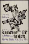 "Movie Posters:Drama, The Misfits (United Artists, 1961). One Sheet (27"" X 41""). Drama...."
