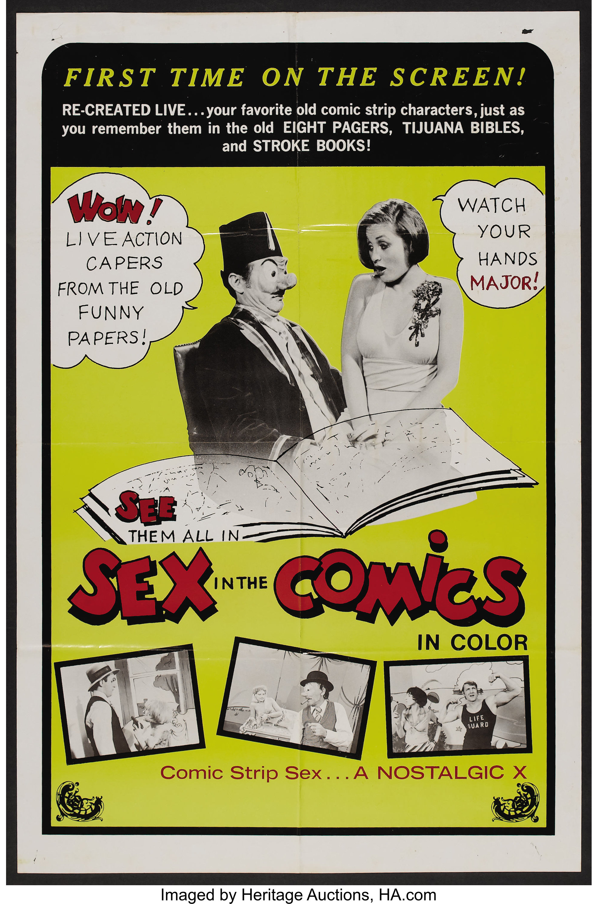 """Funny Adult Comics sex in the comics (unknown, 1973). one sheet (25"""" x 38"""