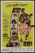 "Movie Posters:Rock and Roll, Go, Johnny, Go! (Hal Roach, 1959). One Sheet (27"" X 41""). Rock andRoll. ..."