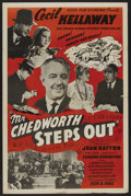 "Movie Posters:Mystery, Mr. Chedworth Steps Out (Astor, 1939). One Sheet (27"" X 41"").Comedy Mystery. ..."