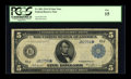 Fr. 881 $5 1914 Federal Reserve Star Note PCGS Fine 15