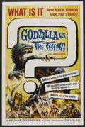 "Movie Posters:Science Fiction, Godzilla vs. the Thing (American International, 1964). One Sheet(27"" X 41""). Science Fiction. ..."