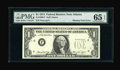 Error Notes:Missing Third Printing, Fr. 1908-F $1 1974 Federal Reserve Note. PMG Gem Uncirculated 65 EPQ.. ...