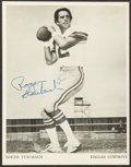 Football Collectibles:Photos, Roger Staubach Signed Photograph....