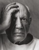 ARNOLD NEWMAN (American, 1918-2006) Pablo Picasso, 1954 Gelatin silver, printed later 18-3/4 x 14-1/2 inches (47.6 x